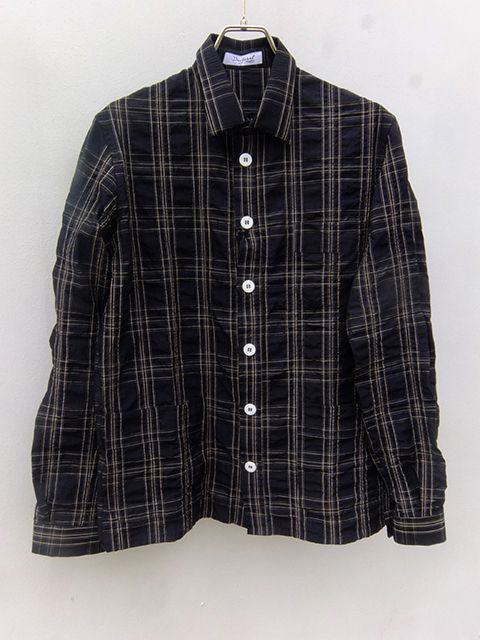 bergfabel woker shirts navy check (1)