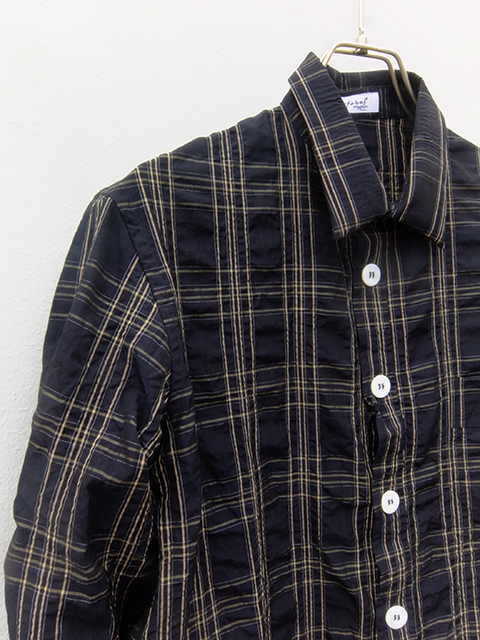 bergfabel woker shirts navy check (2)