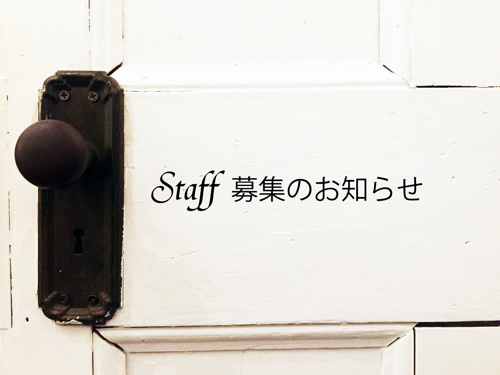 Staff 募集