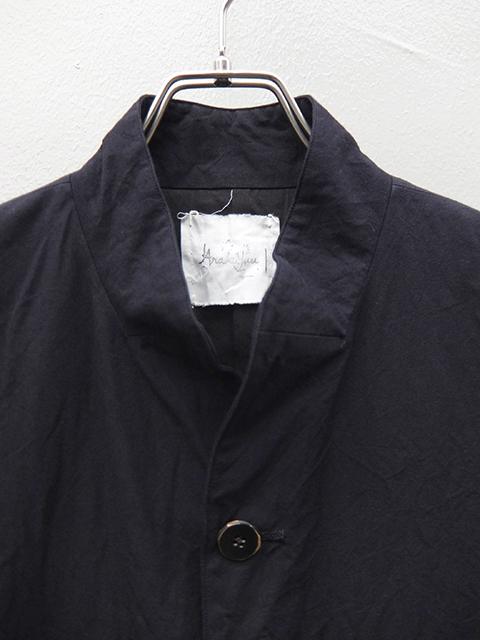 ArakiYuu atelier coat navy (2)