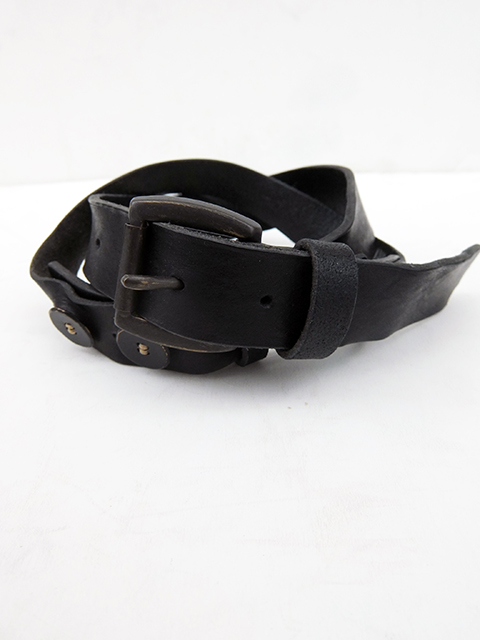 ArakiYuu leather belt BLACK (1)