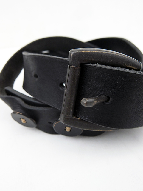 ArakiYuu leather belt BLACK (2)