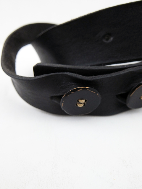 ArakiYuu leather belt BLACK (3)