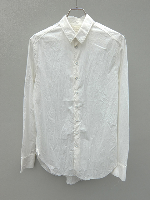 ArakiYuu pointed collar narow shirts white (1)