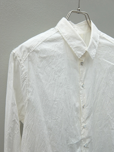 ArakiYuu pointed collar narow shirts white (2)