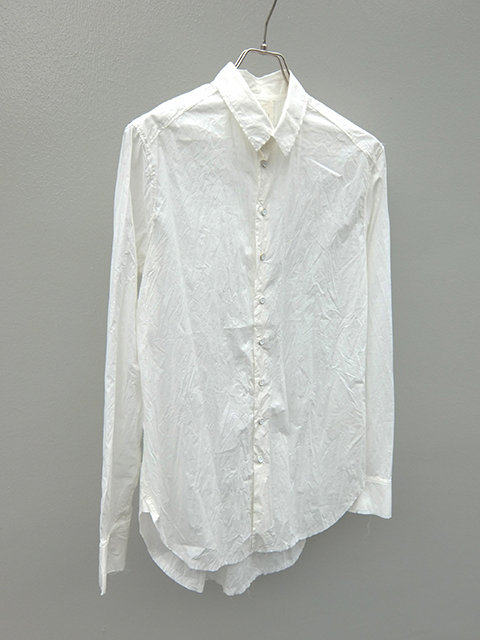 ArakiYuu pointed collar narow shirts white (4)