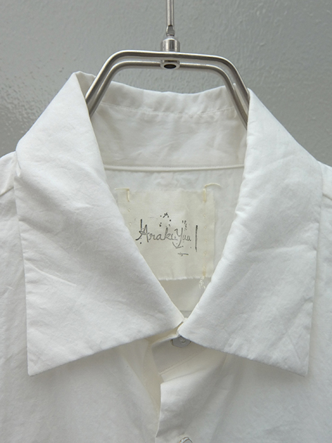 ArakiYuu pointed collar shirts WHITE (2)