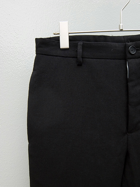 bergfabel pants down slim pants BLACK (2)