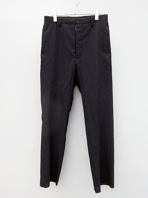 bergfabel straight pants BLACK W GREY STRIPE (1)