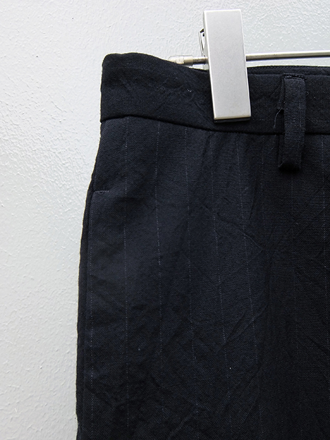 bergfabel straight pants BLACK W GREY STRIPE (2)