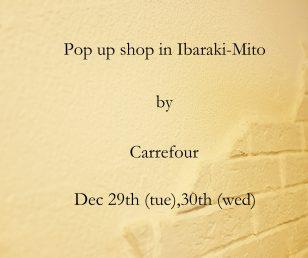 Pop Up Shop in Ibaraki-Mito