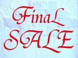 Final SALE Start!!!